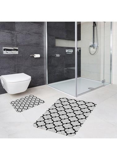 Meg & Cloud Banyo Halısı Ikili Klozet Takımı Kaymaz Tabanlı Banyo Paspas Takımı Renkli